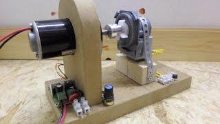 getlinkyoutube.com-DC motor - Dishwasher drain motor,  The Gerard Morin setup and info on a larger build...