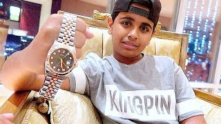 getlinkyoutube.com-DUBAI'S RICHEST KID GETS $30,000 DOLLARS ROLEX !!!