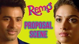 Remo - Proposal scene   Sivakarthikeyan    Keerthy Suresh   P. C. Sreeram