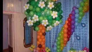 getlinkyoutube.com-Воздушные шары,Гирлянда 6 шаров.