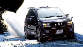getlinkyoutube.com-Suzuki Grand Vitara ESCOFF 02 エスクード スノーアタック