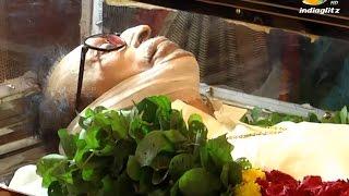 getlinkyoutube.com-Legendary actor S.S.Rajendran passed away   Death Funeral Video   Vijayakanth, Karunanidhi