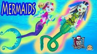 getlinkyoutube.com-Monster High MERMAIDS Great Scarrier Reef 2016 Movie Dolls Frankie Lagoona Unboxing - Cookieswirlc