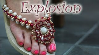 getlinkyoutube.com-ESSE É O VÍDEO CERTO !!!!DECULPEM MEU ENGANO :(  Chinelo decorado: Flor de pérolas e cristais
