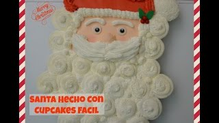 getlinkyoutube.com-Santa Hecho Con Cupcakes Facil