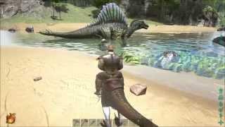 getlinkyoutube.com-ARK: Survival Evolved - Spinosaurus First Look and Kill