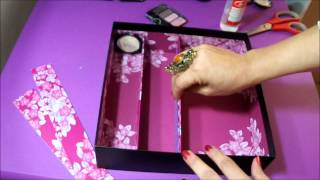getlinkyoutube.com-DIY ORGANIZADOR PARA COSMETICOS (RECYCLEMOS) BY LIVITA♥