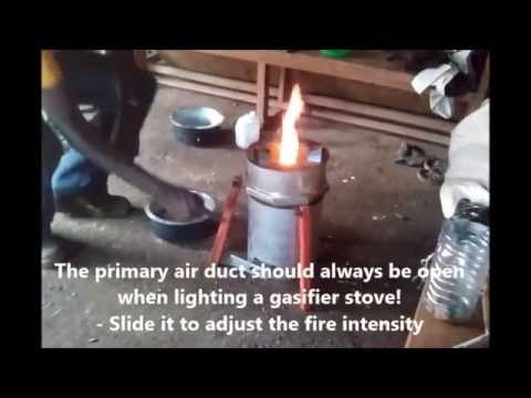 How To Light a TLUD gasifier stove