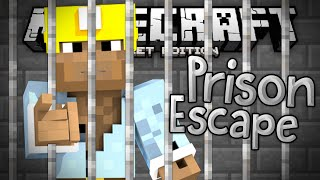 ROBBING MY FIRST BANK!!! - Prison Break Adventure Map - Minecraft PE (Pocket Edition)