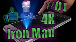 getlinkyoutube.com-Hologramme Pyramide Téléphone Iron man 4K