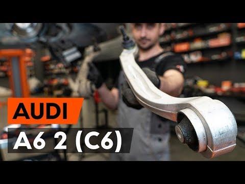 Как заменить передний рычаг подвески AUDI A6 2 (C6) (ВИДЕОУРОК AUTODOC)