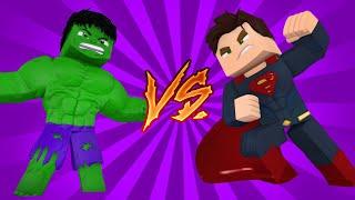 Minecraft: HERÓIS DA SORTE - HULK VS SUPERMAN ‹ Ine ›