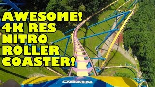 AMAZING Nitro Roller Coaster 4K Resolution POV Six Flags Great Adventure