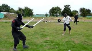 getlinkyoutube.com-HEMA combat two swords vs two swords