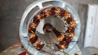 Prądnica na neodymy z silnika od pralki frani