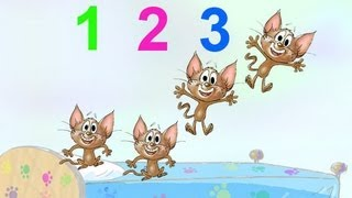 getlinkyoutube.com-5 LITTLE MONKEYS JUMPING ON THE BED NURSERY RHYME SONG performed by 5 kittens