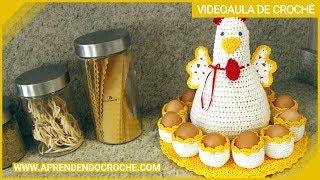 getlinkyoutube.com-Galinha de Crochê Porta Ovos - Aprendendo Crochê