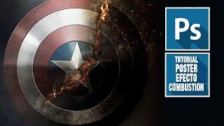 getlinkyoutube.com-Tutorial Photoshop efecto combustion escudo capitan américa by @ildefonsosegura