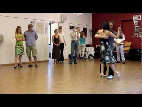 Basic Sequences with Back Ochos, Giros, Sacadas, Cruces | michelle + joachim
