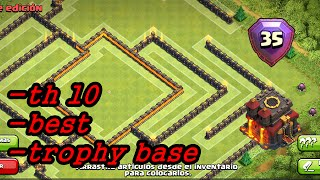 "getlinkyoutube.com-Clash Of Clans - ""NEW"" BEST TOWN HALL 10 (TH10) TROPHY BASE BASE w/275 Walls New Update 2015!"