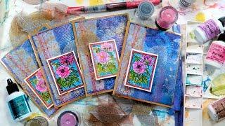 getlinkyoutube.com-Shimmer Shine Messy Background with Brusho & Color Burst!
