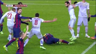 getlinkyoutube.com-Barcelona - Atletico Madrid Highlights HD CdR 21.01.2015