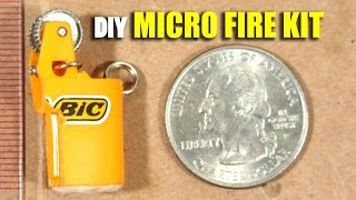 getlinkyoutube.com-Micro Emergency Fire Starting Kit Tutorial, DIY Keychain Survival Tool: IT'S NOT A LIGHTER