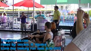 Icona Pop Visiting Fun Spot Orlando - Bumper Cars