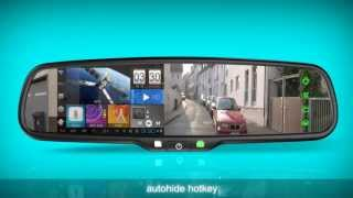 getlinkyoutube.com-Germid Android GPS Rear View Mirror  JN-045LA