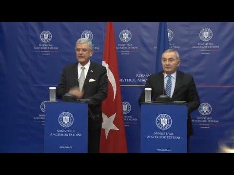 Declaraţii comune de presă ale ministrului Lazăr Comănescu cu ministrul afacerilor europene şi negociator şef al Republicii Turcia, Volkan Bozkır
