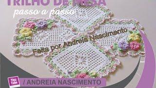 getlinkyoutube.com-DIY trilho de mesa de crochê.