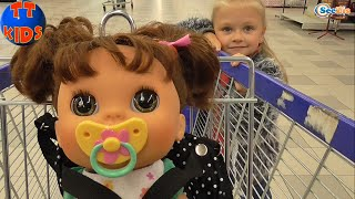 getlinkyoutube.com-✔ Готовимся к Хэллоуину с моей Куклой! Make preparation for Halloween together with Alive Baby Doll