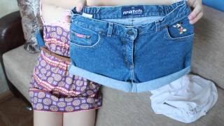 getlinkyoutube.com-Модные шорты своими руками: 2 варианта - Diy shorts [on-the-go blog]