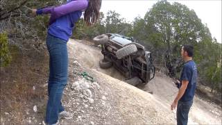 getlinkyoutube.com-Girls Roll Jeep Cherokee XJ with solo recovery