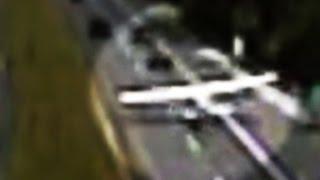 Plane crash-lands on busy highway