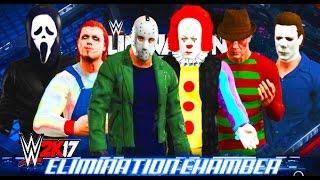 getlinkyoutube.com-WWE 2K17 - Jason Voorhees vs Chucky vs Ghostface vs Michael Myers vs Pennywise vs Freddy Krueger