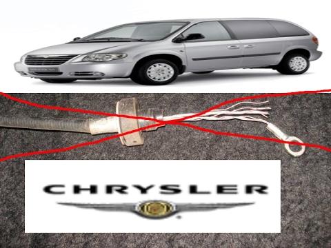 Chrysler Voyager Крайслер Вояджер замена троса сцепления
