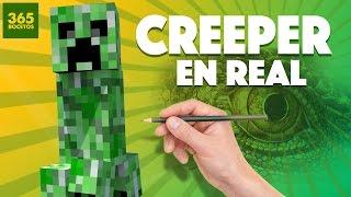 getlinkyoutube.com-COMO SERIA UN CREEPER EN LA VIDA REAL? Real Life Minecraft  - Art challenge