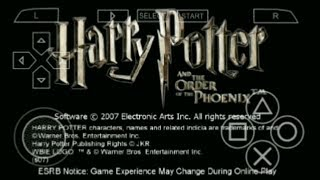 Harry potter and Order of Phoenix PSP gameplay Part-1 Learning spells