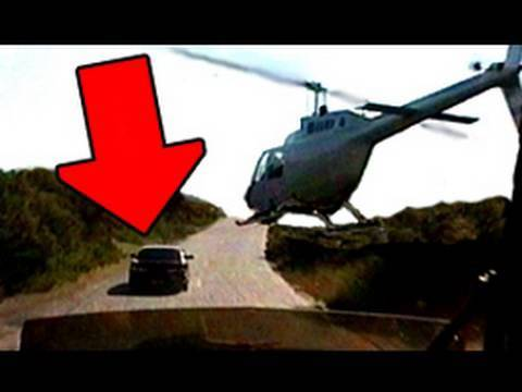 Amazing Helicopter Flying, Car Chase