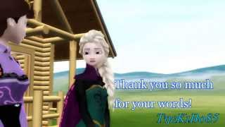 getlinkyoutube.com-Elsa/Anna - MMD - Merida's flight