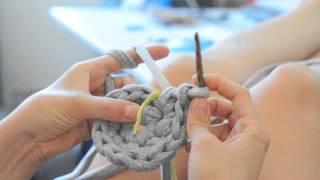 getlinkyoutube.com-DIY Schale/Korb stricken und häkeln mit Zpagetti Teil 1