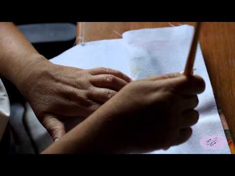 Pintura em tecido - Eliane Nascimento impermeabilizando o barradinho.