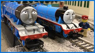 getlinkyoutube.com-GORDON THE BIG ENGINE OO GAUGE HORNBY vs HO SCALE BACHMANN - Thomas and Friends Trains