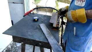 getlinkyoutube.com-Plasma Cut 40 Lee Tools cortando aço 10mm