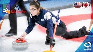 USA v Canada (Women) - VoIP Defender World Junior Curling Championships 2017