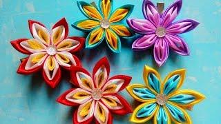 getlinkyoutube.com-Цветы Канзаши Мастер Класс/Flowers kanzashi Master Class