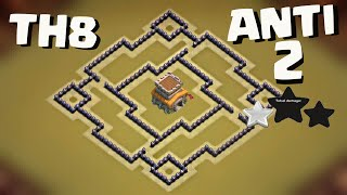 getlinkyoutube.com-Clash of Clans - BEST TH8 WAR BASE - ANTI 2 STARS [works!]
