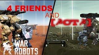 getlinkyoutube.com-War Robots - 4 Friends and Russian Clan  [☭CT☭] - Intense Match