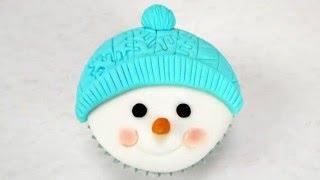 getlinkyoutube.com-Super Easy Snowman Cupcake